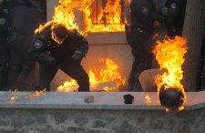 Tűzben égtek a rendőrök(video)
