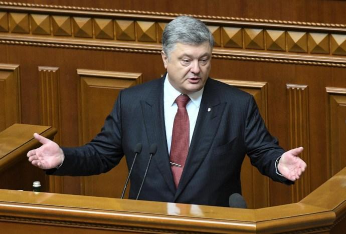 """Petro Porosenko: Az ukránoknak """"szent joguk"""", hogy tanulhassák anyanyelvüket"""