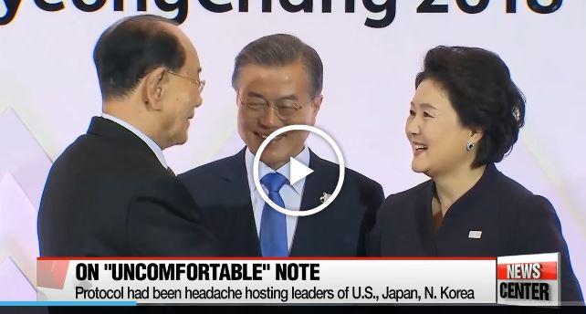 A dél-koreai elnök üdvözlő fogadásán nem jelent meg Pence