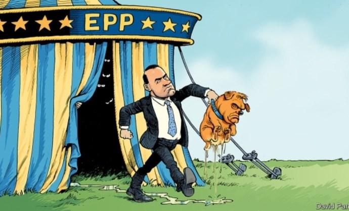 Maga alá pisilő kutyaként ábrázolták Orbán Viktort