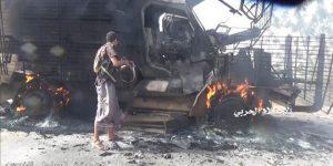 Öt szaúdi katonai járművet semmisítettek meg Jemenben