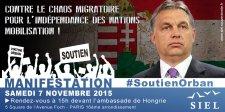 Bayer Zsolt: Orbán Viktor mellett tüntet a francia szélsőjobb