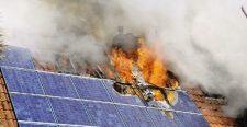 Mi a teendő az égő napelemekkel?