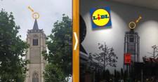 A Lidl már megint keresztet retusált le – most egy belga templomról