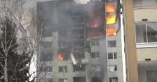 Felvétel készült arról, ahogy felrobban az eperjesi lakóépület