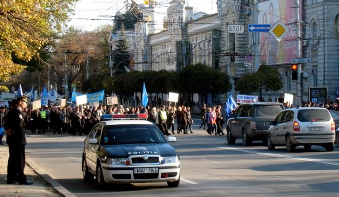 Chisinauban a NATO ellen tiltakoztak