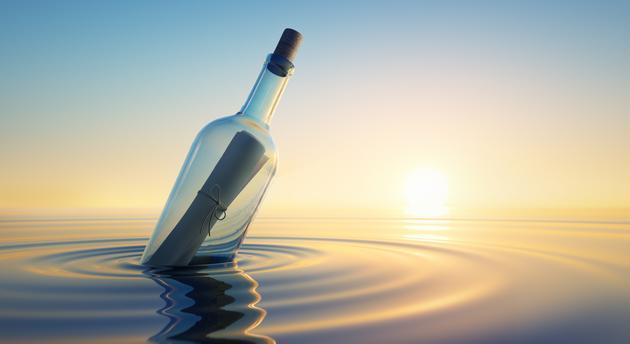 50 éves palackposta került elő, még egy orosz haditengerész indította útnak