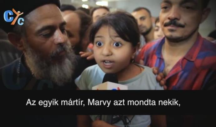 Szívszorító videóban üzent az iszlamistáknak a négy éves Júlia