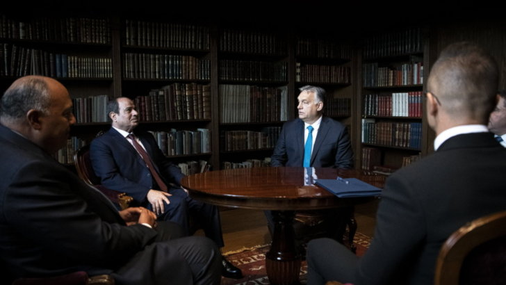 Orbán Viktor fogadta Egyiptom elnökét