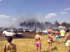Negyvenkilenc autó égett ki Diószegnél