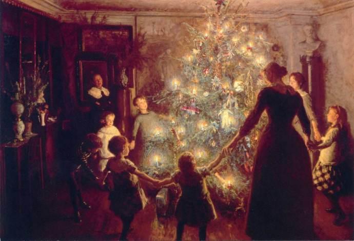 A karácsonyfa körül