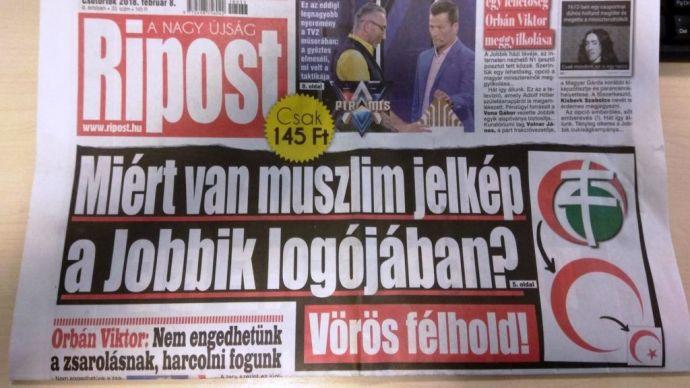 A Jobbik muszlim logóját is jól leleplezte a Habony-média