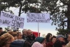 Vonyarcvashegyen tüntettek a Balatonért