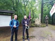 Esőben is menetel a Rongyos Gárda Emléktúra