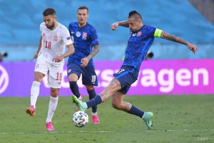 A spanyolok Szlovákia kiütésével bejutottak a nyolcaddöntőbe