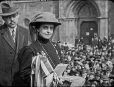 """""""Égre felszálló nagy Te Deum"""" – 100 éves filmfelvétel került elő Slachta Margitról"""