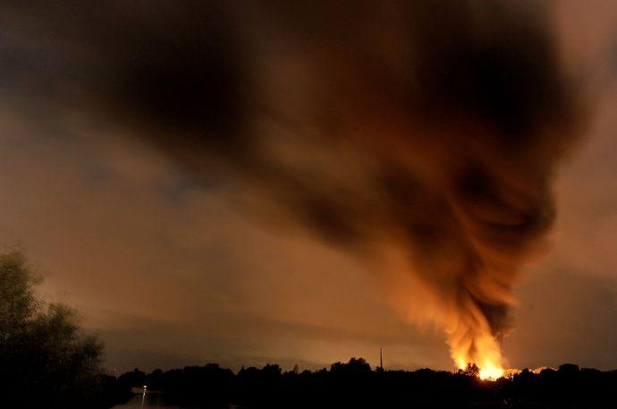 Óriási robbanás volt Brémánál