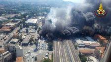 Brutális: Tűzgolyóként robbant fel egy tartálykocsi Bolognában (Videók a robbanásról és a pusztításról)