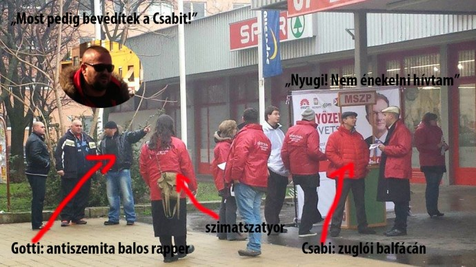 """""""A Dunába velük vasárnap!"""" – hirdeti az MSZP-ért tevékenykedő, nem éppen zsidóbarát rapper"""