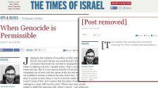 """A népirtás jogosságáról elmélkedett egy """"Isten ajándéka"""" a Times of Israel hasábjain – a cikket azóta eltávolították"""