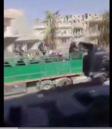 Újabb videó az amerikai védelemmel elvonuló Iszlám Állam terroristákról