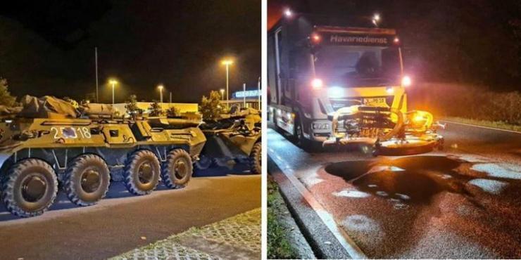 Haza kellett küldeni a rozoga román harcjárműveket egy németországi hadgyakorlatról