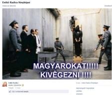 """""""Magyarokat kivégezni, hajrá, cigányok!"""""""