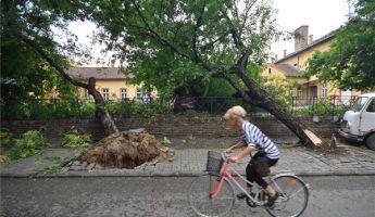 Lecsapott a vihar Budapestre