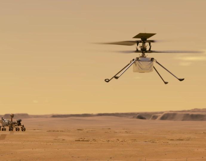 VIDEÓ: Történelmi tesztrepülést tett a NASA helikoptere a Marson