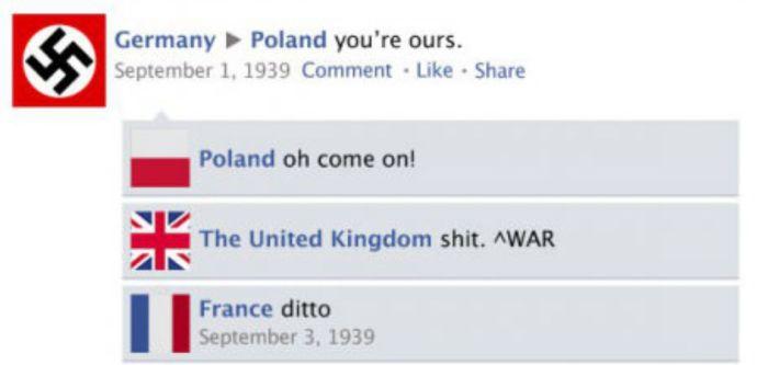 Ilyen lett volna a II. világháború, ha 1939-ben már lett volna Facebook