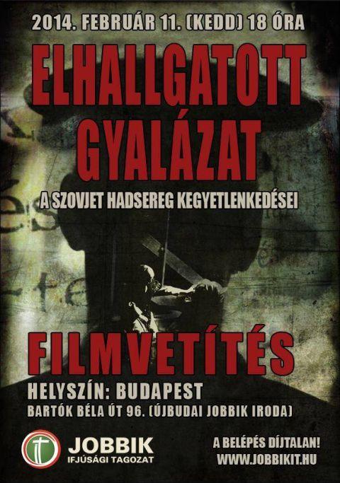 Elhallgatott gyalázat – filmvetítés Újbudán a szovjet hadsereg kegyetlenkedéseiről