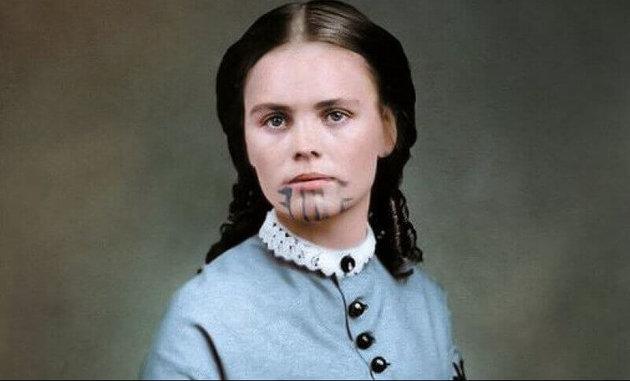Lemészárolták a családját, majd felnevelték az indiánok a tetovált mormon lányt