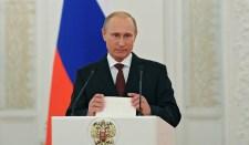 Putyin: Oroszország bebizonyította, hogy képes megvédeni nemzeti érdekeit