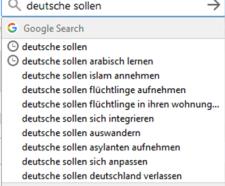 Mit kell tenniük a németeknek a Google szerint? A válaszok letaglózóak