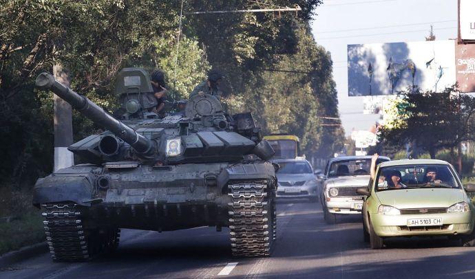 Ukrán deszantosok kerültek kelepcébe Luhanszkban