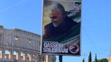 A mártír Suleimani tábornok képei jelentek meg Rómában