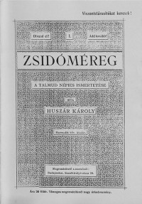 Huszár Károly: A Talmud népies ismertetése I.