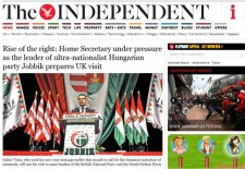 Vona Gábor az Independent vezető híre