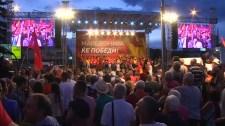 Orbán videóban üzent a macedón tüntetőknek