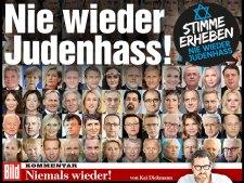 Ajvékoló tabló a Bildben, megriadt a német közélet az terrorállam bírálatától