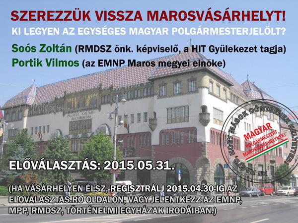 Ne engedjük, hogy egy hitgyülis legyen a marosvásárhelyi magyar polgármesterjelölt!