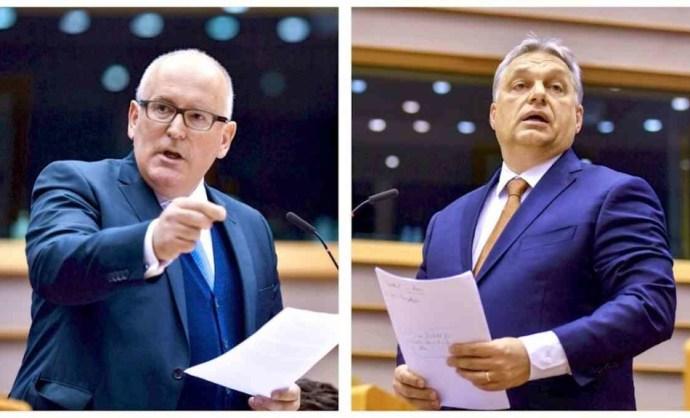 Junckert Timmermansra cseréli a kormány a Soros-plakátokon