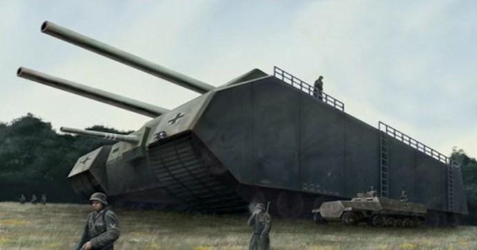 Az 1000 tonnás náci szupertank, ami mellett a Tigris dodzsemnek tűnt volna