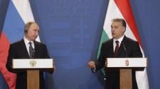 """Vlagyimir Putyin Budapesten: """"egyik ország sem tudja megváltoztatni a házszámát"""""""
