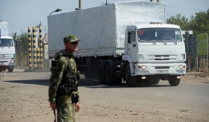 Az orosz, segélyt szállító konvojt megtámadták Ukrajnában