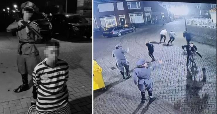 """Holland fiatalok """"náci"""" egyenruhában tüntettek, játékpisztollyal zsidóra is lőttek"""