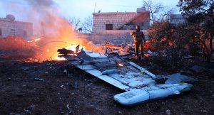 Az orosz SZU-25 pilótája felrobbantotta magát, miután bekerítették a terroristák