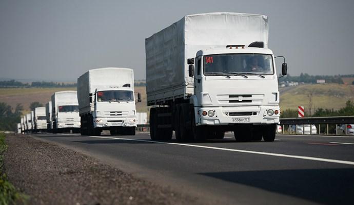 A humanitárius konvoj elért Oroszország és Ukrajna határára