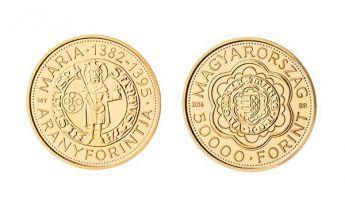 Érme Mária királynő aranyforintjának emlékére