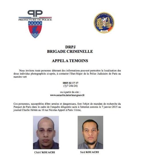 """Feladta magát az egyik """"párizsi"""" iszlamista, két társát még keresik"""